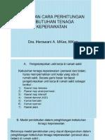 perhitungan tenaga perawat