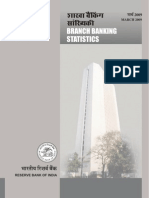 Branch Banking Statistics,Volume 4,March 2009-Released on 1 Sep,10