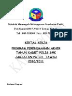 Kadet Polis Smk Jambatan Putih ( Kertas Kerja ) 2010