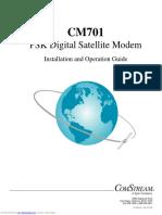 O&M Manual for Comstream CM701 Satellite Modem