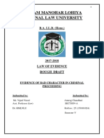 111111111111111final Draft of Law of Evidence