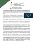 Declaracion Final CNE Diciembre 2017