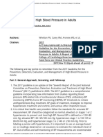 2017 Guideline for High Blood Pressure in Adults - American College of Cardiology