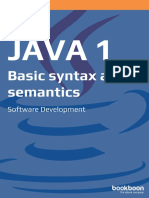 Java 1 Basic Syntax and Semantics