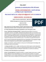HRM302-Management and Organisational Development