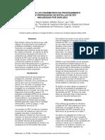 Efecto de Los Parametros de Procesamiento en Las p