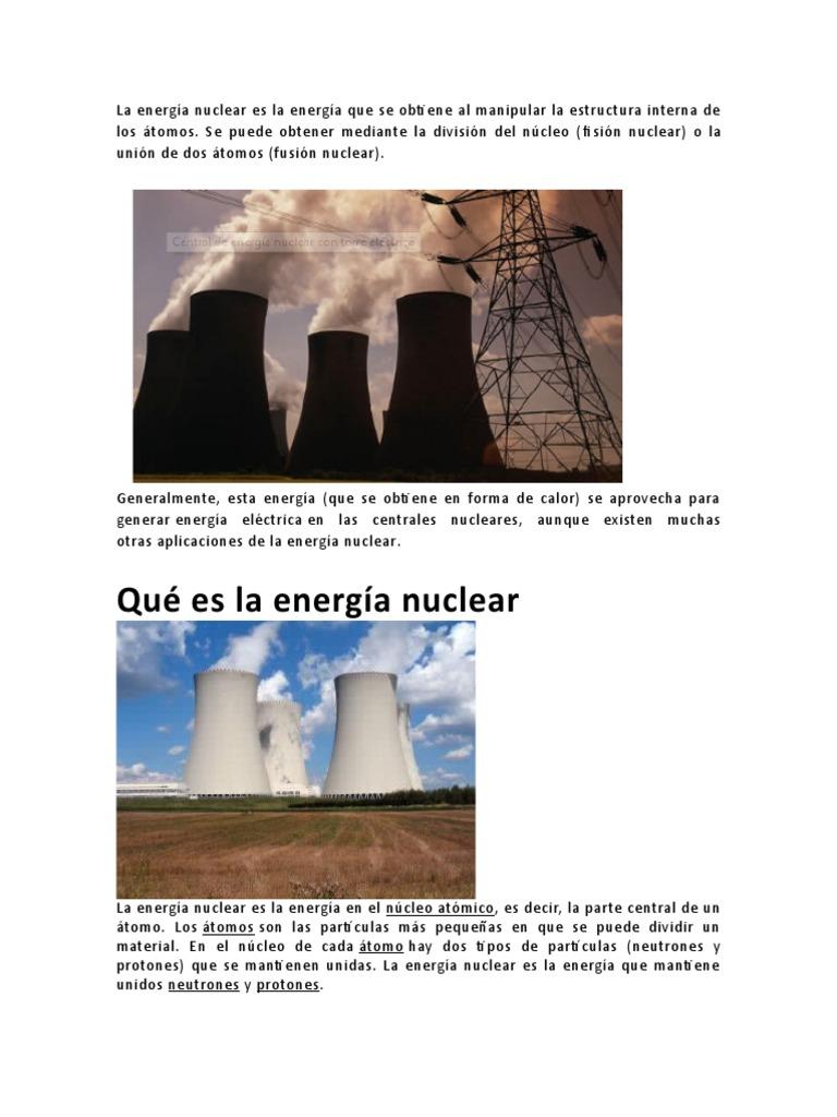 Energia Nuclear Docx Central Nuclear Energía Nuclear