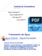 Água e Sistemas de Purificação e Controle