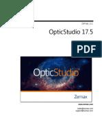 OpticStudio UserManual En