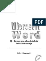 MS Word - Savremena Obrada Teksta i Dokumenata