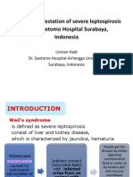 Leptospirosis in Dr. Soetomo SBY. Ppt