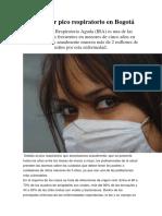 Alerta Por Pico Respiratorio en Bogotá