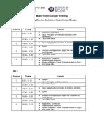 Master Trainer Cascade Workshop Timetable (4)