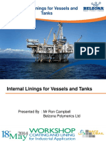 Internal Linings for Vessels and Tanks - NACE Jubail May 2014