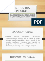 Origenes Educación No Formal