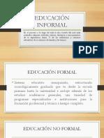 Origenes Educación No Formal