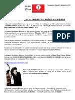2a Convocatoria 2015 - Orquesta Académica Boliviana