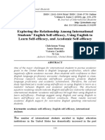 12.	Exploring the relationship among international students' English self-efficacy, using English to learn self-efficacy, and academic self-efficacy. Chih-hsuan Wang, Jamie Harrison, Victoria Cardullo, & Xi Lin, Auburn University, United States; pp. 233-250