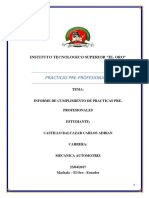 Informe de Practicas Tecnicentro