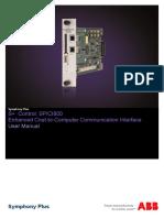 2VAA000814RevC D en S Control SPICI800 Enhanced Cnet-To-Computer Communication Interface