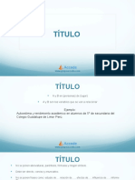 Co Mo Redactar El Ti Tulo