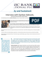 Interview With Oyinkan Adewale, Executive Director - Chief Financial Officer, Oceanic Bank International PLC on Q2 2010 Results