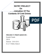 CBSE XII Chemistry Project Determination of the Contents of
