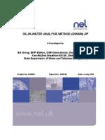 NEL-Oilin Water Analysis Method (OIWAM) - Final Report