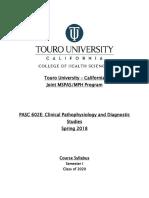 Syllabus Clinical Pathophysiology and Diagnostic Studies 2018(2).docx