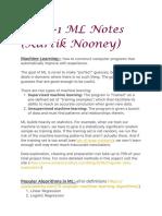 Week-1 ML Notes