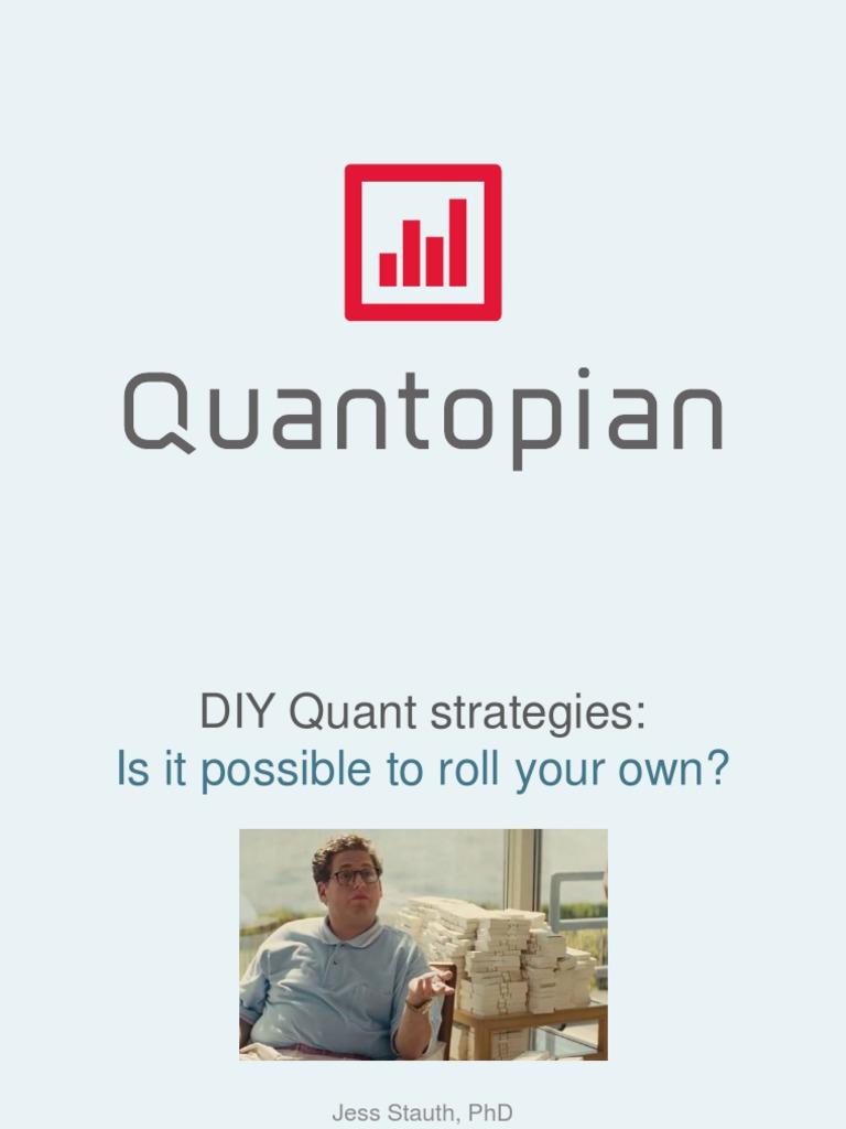 5 Basic Quant Strategies | Short (Finance) | Valuation (Finance)