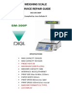 WEIGHING SCALE Service Guide by Jose Gellado IV