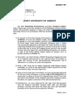 Annex d - Joint Affidavit of Arrest