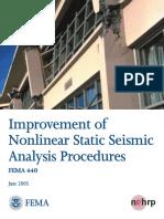 2005 June FEMA 440 Improvement of Nonlinear Static Seismic Analysis Procedures