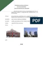 03 Enero Final Ensayo de La Transformacion de Las Ideologias Desde La Arquitectura Republicana Hasta La Actualidad