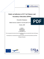EDASMO 2009 Study On Indicators On ICT in Primary & Secondary Education
