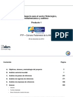 Plan de Negocio Para El Sector Siderurgico, Metalmecanico y Astillero en Colombia. Producto 1. Diciembre 2012.