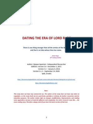 Dating æra af Lord Rama