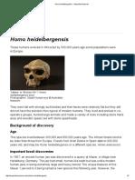 Homo Heidelbergensis - Australian Museum