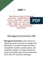 Unit I Managerial Economics 06102017