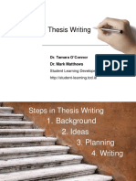 Thesis Writing 2011