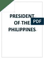 POLITICS Philippine President