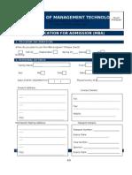 IMT Dubai -MBA Application Form