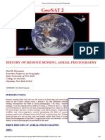 History of Remote Sensing, Aerial Photography
