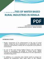 Full Paper Possibilities of Water Based Rural Industries in Kerala [Sujith Prabhakar]