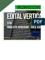 Edital Verticalizado - STM - Analista Judiciário - Área Judiciária