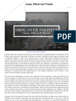 Smog Over Pakistan – Causes, Effects and Threats