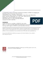Longitudinal Analysis of Customer Satisfaction
