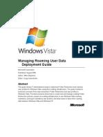 Managing Roaming User Data Deployment Guide