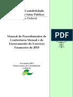 Manual Procedimentos Financeiro Exercicio 2015